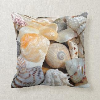 Realistic Seashells Decorative Throw Pillow
