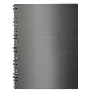Realistic silver metallic texture notebook