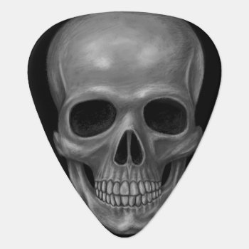 Realistic Skull Guitar Pick by Figbeater at Zazzle