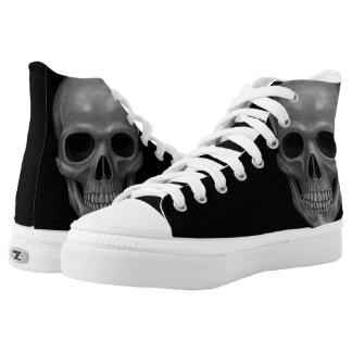 Realistic Skull High-Top Sneakers