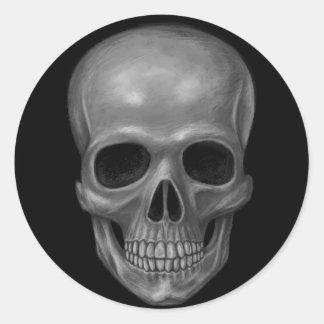 Realistic Skull Classic Round Sticker