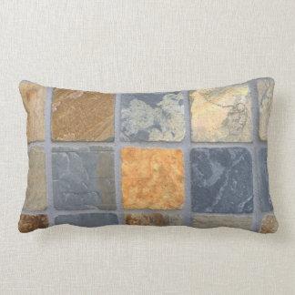 Realistic Slate Tiles Throw Pillow