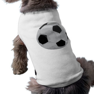realistic soccer ball vector graphic doggie tee shirt