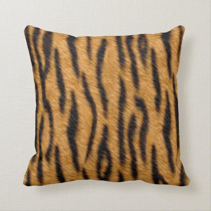 Realistic Tiger Animal Print Throw Pillows Zazzle