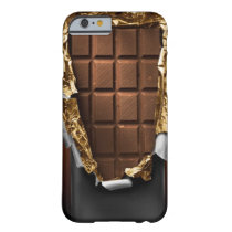 Realistic Unwrapped Chocolate Bar iPhone 6 case