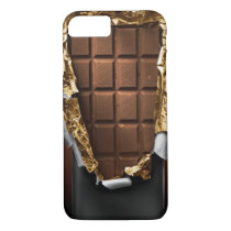Realistic Unwrapped Chocolate Bar iPhone 7 case