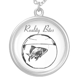 Reality Bites Round Pendant Necklace