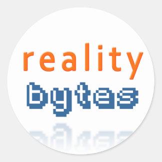 Reality Bytes Classic Round Sticker