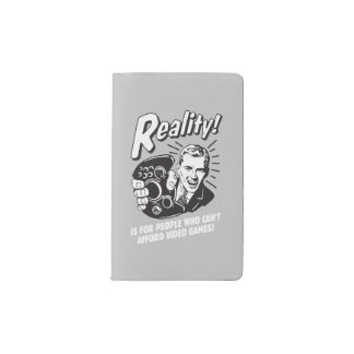 Reality: Can't Afford Video Games Pocket Moleskine Notebook Cover With Notebook