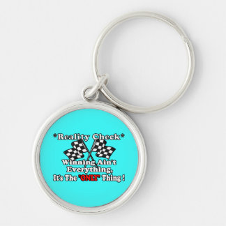*Reality Check* Silver-Colored Round Keychain