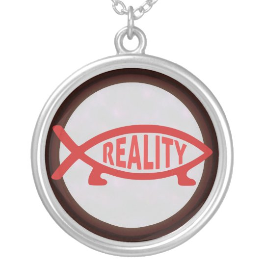 Reality Darwin Fish (on light) Necklaces