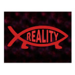 Reality Darwin Fish Postcard