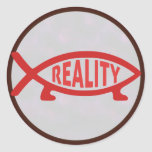 Reality Darwin Fish Stickers
