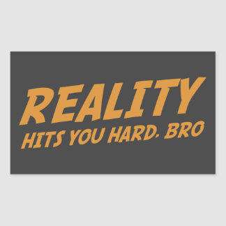 Reality Hits You Hard Bro Sticker