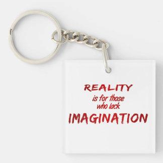 Reality/Imagination Double-Sided Keychain