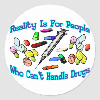 Reality Is For People Round Stickers
