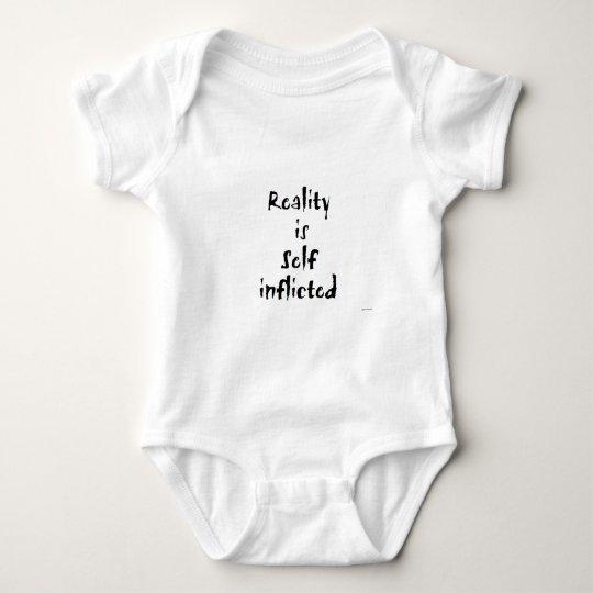 Reality is Self Inflicted Baby Bodysuit