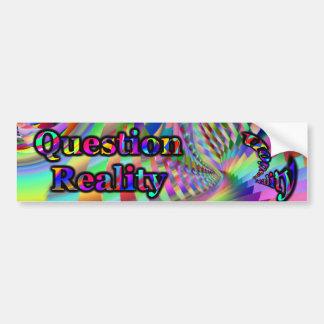 Reality Quest Bumpersticker Bumper Sticker