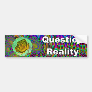 Reality Quest... or is it Photoshopped? Car Bumper Sticker