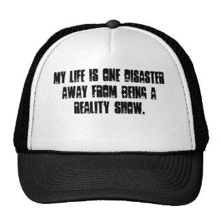 Reality Show Life Mesh Hats
