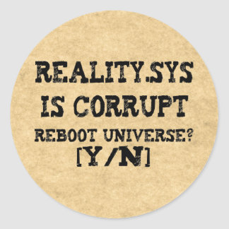 Reality.Sys Classic Round Sticker