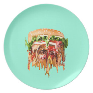 Reality vs. Burger Party Plate