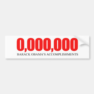 Realizaciones 2 de Anti-Obama - de Obama Etiqueta De Parachoque