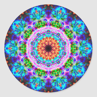 Really Colorful Mandala Classic Round Sticker