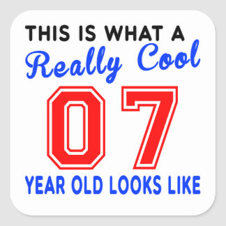 Really cool 07 square sticker