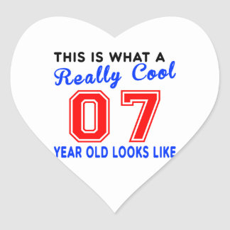 Really cool 07 heart sticker