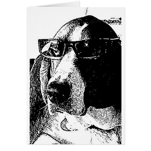 REally cool basset hound Card