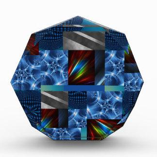 really cool blue acrylic award
