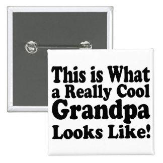 Really Cool Grandpa Pin