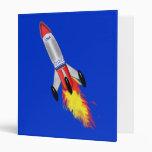 Really Cool Rocket 3 Ring Binder
