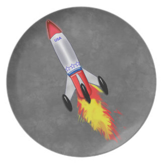 Really Cool Rocket Party Plates