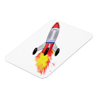 Really Cool Rocket Rectangular Photo Magnet