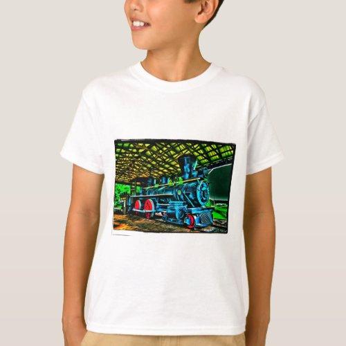 Really Cool Train Art T_Shirt