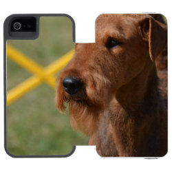 Incipio Watson™ iPhone 5/5s Wallet Case with Airedale Terrier Phone Cases design