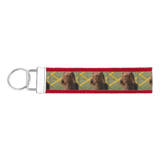 Really Cute Airedale Terrier Wrist Keychain