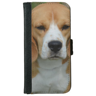 Really Cute Beagle Pup iPhone 6 Wallet Case