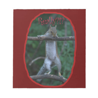 """""""Really?!?"""" ... Cute, funny image of Squirrel Memo Notepads"""