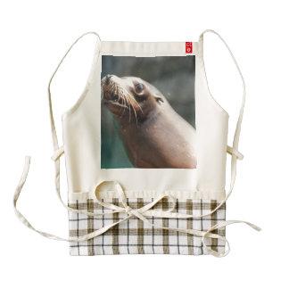 Really Cute Sea Lion Zazzle HEART Apron
