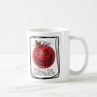 Really evil pomegranate classic white coffee mug
