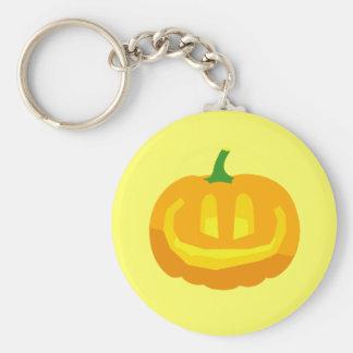 really happy Jack-O-'Lantern Basic Round Button Keychain