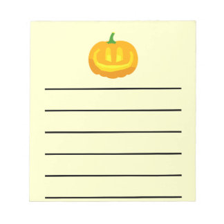 really happy Jack-O-'Lantern Notepad