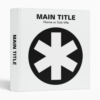 Really Important Asterisk - Black and White Binder