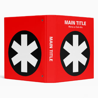 Really Important Asterisk - Red 3 Ring Binder