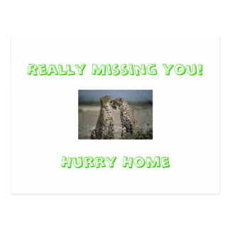 Really Missing You!Hurry Home Postcard