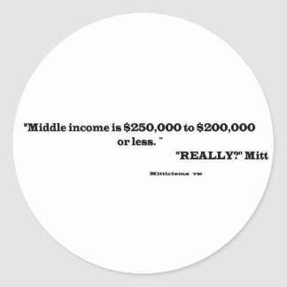 Really Mitt BS.png Classic Round Sticker