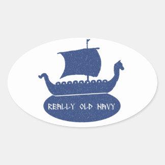 Really Old Navy Oval Sticker